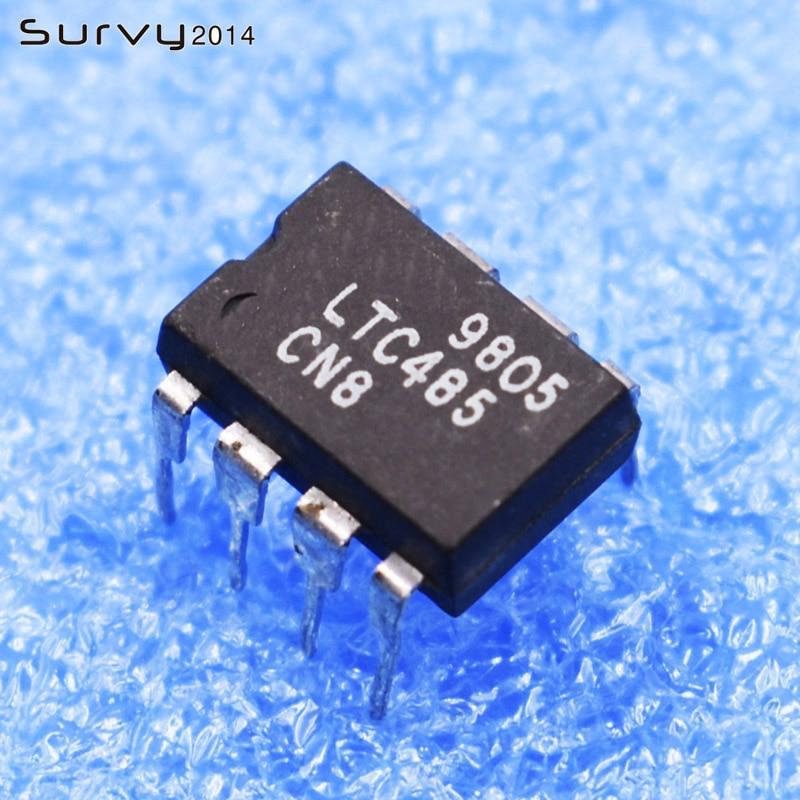 2/5 pces ltc485cn8 8 pinos ltc485cn ic encapsulamento nova eletrônica diy