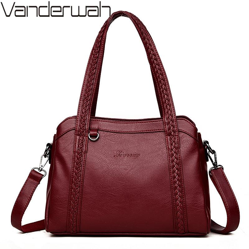 2019 Classic Women Messenger Bags High Quality Leather Luxury Handbags Women Bags Designer Ladies Hand bags For women Bolsa Sac
