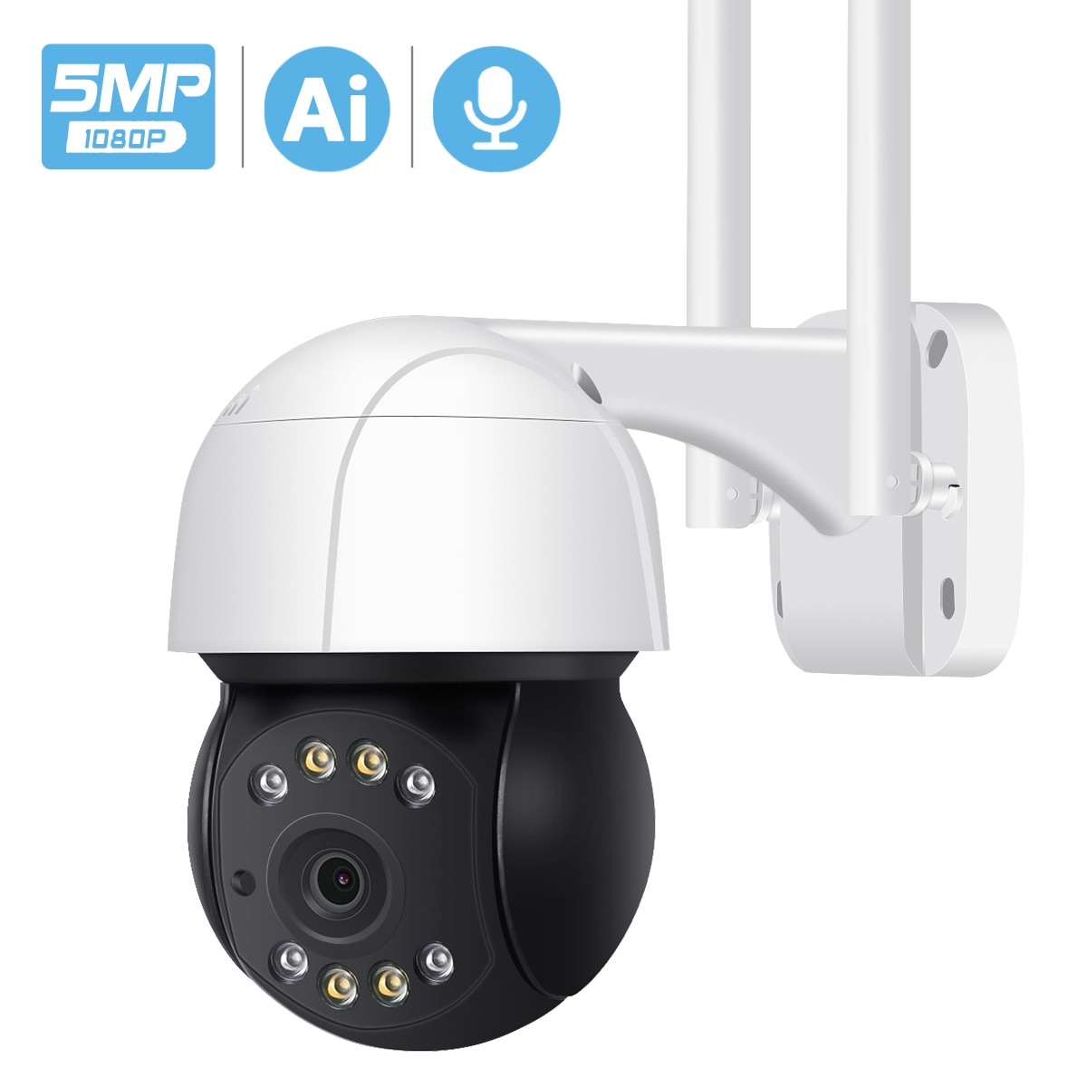 5MP PTZ واي فاي كاميرا IP في الهواء الطلق AI الإنسان السيارات تتبع كاميرا لا سلكية الصوت 2MP 3MP الذكية الأمن CCTV IP كاميرا سحابة التخزين