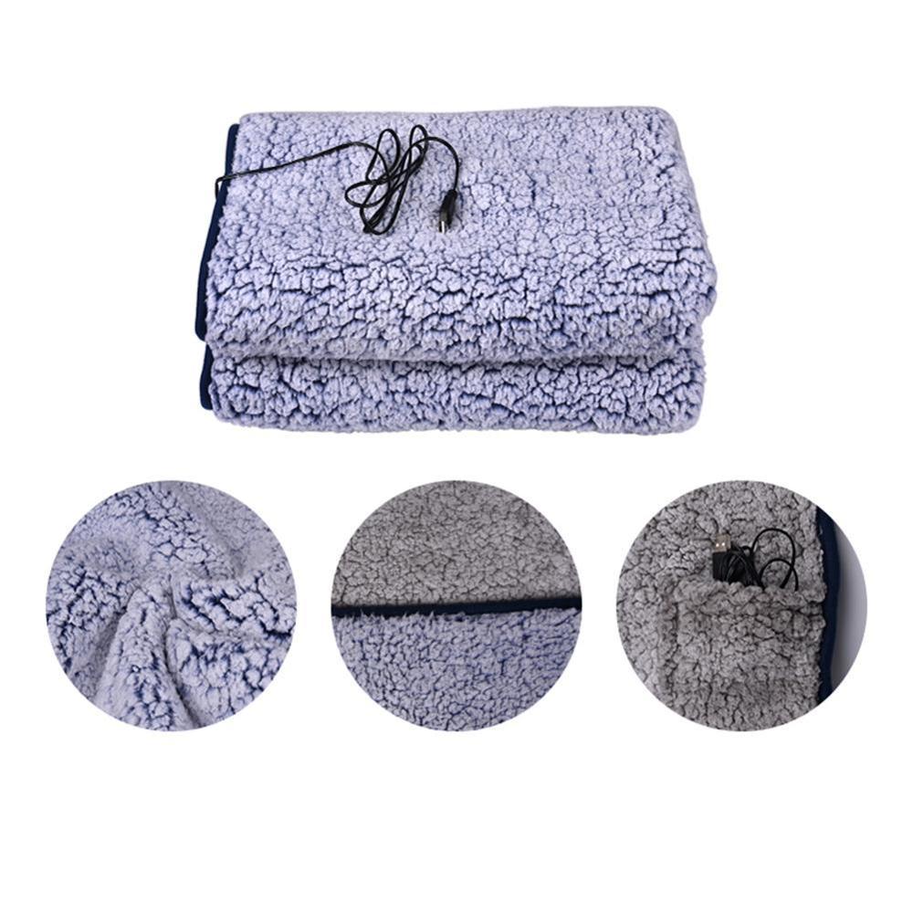 Manta eléctrica de 110x70cm, manta suave con USB, manta eléctrica lavable para...