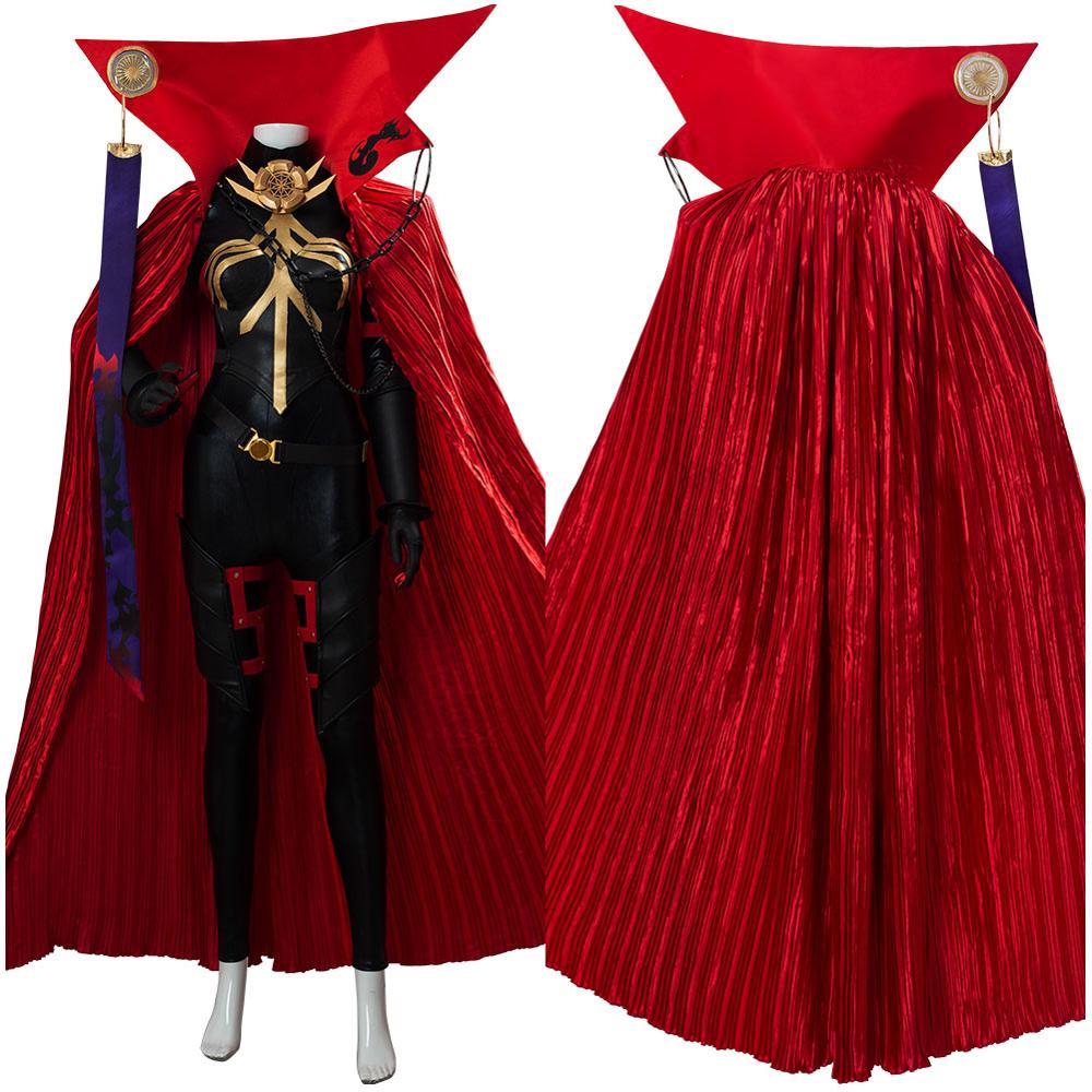 Fate Grand Order Oda Nobunaga Cosplay disfraz capa roja vestido Halloween carnaval fiesta Cosplay Disfraces para Niñas mujeres