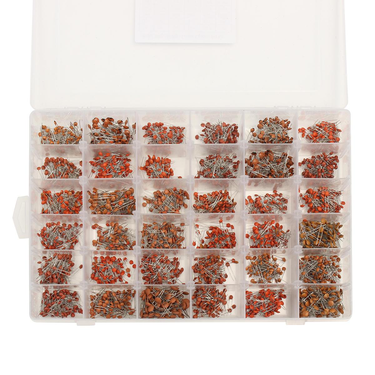 3600 ceramic capacitor variedade kit pcs lote 1pf 100nf 10pf 22pf 33pf 47pf 100pf