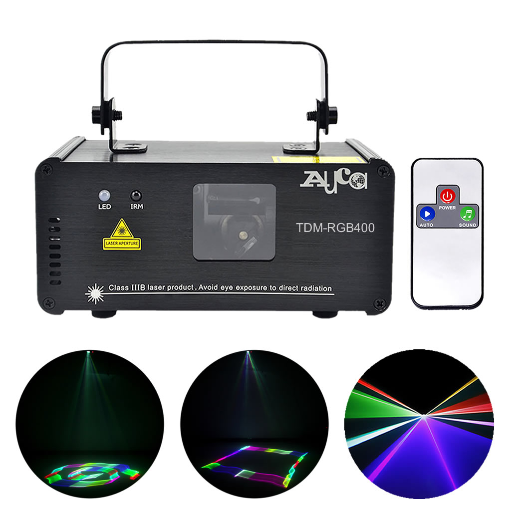 Remote 3D Effect Laser Scaner 400mW RGB Colorful Projector Stage Lights 8CH DMX Disco DJ Party Show Beam Scan Stage Lighting US