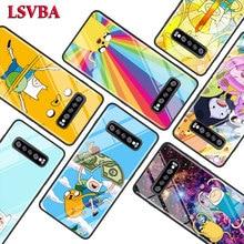 Adventure Time Fashion for Samsung Galaxy Note 10 9 8 Pro S10e S10 5G S9 S8 S7 Plus Super Bright Glossy Phone Case Cover