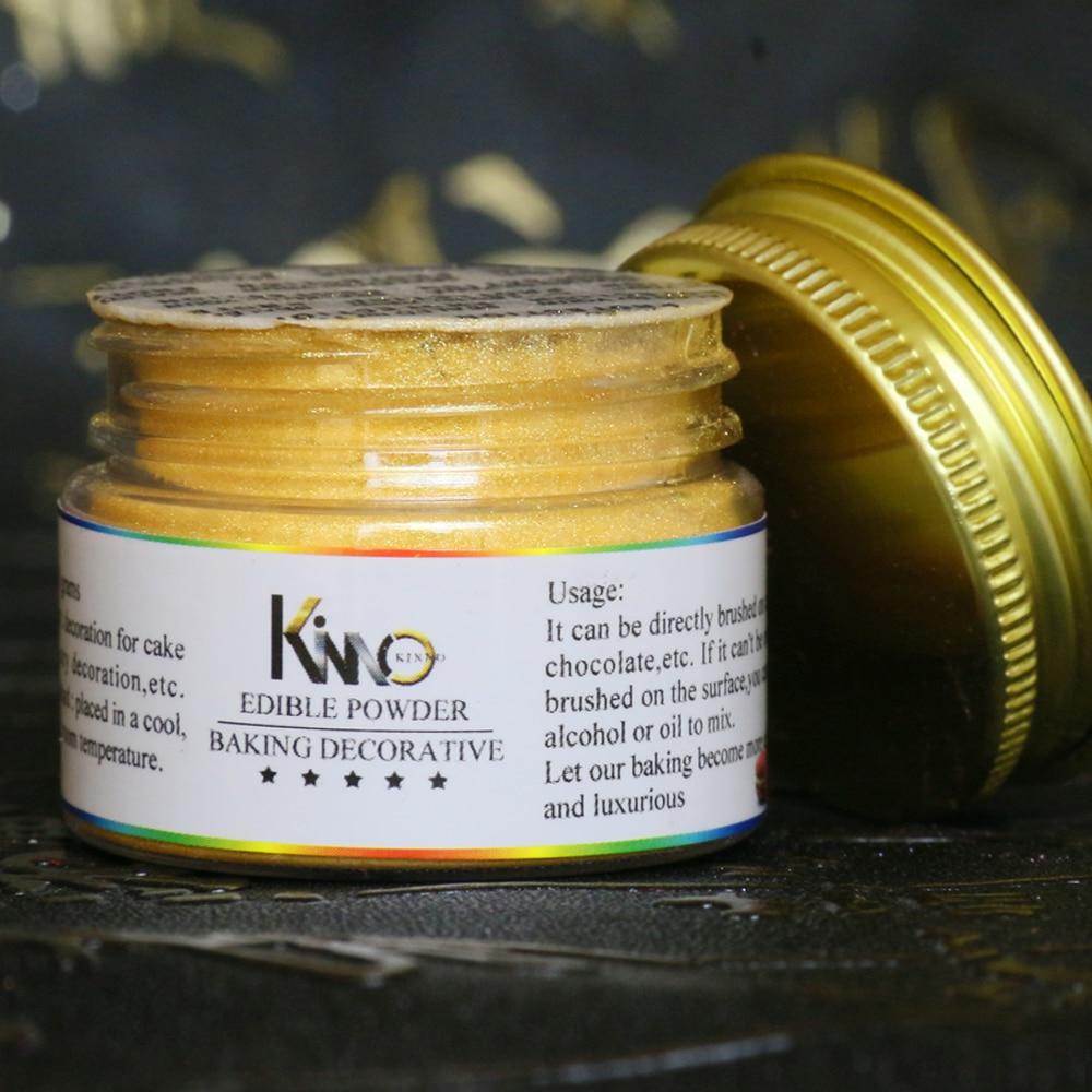 Polvo Comestible de Color dorado para decoración de tartas, Colorantes de pastelería...
