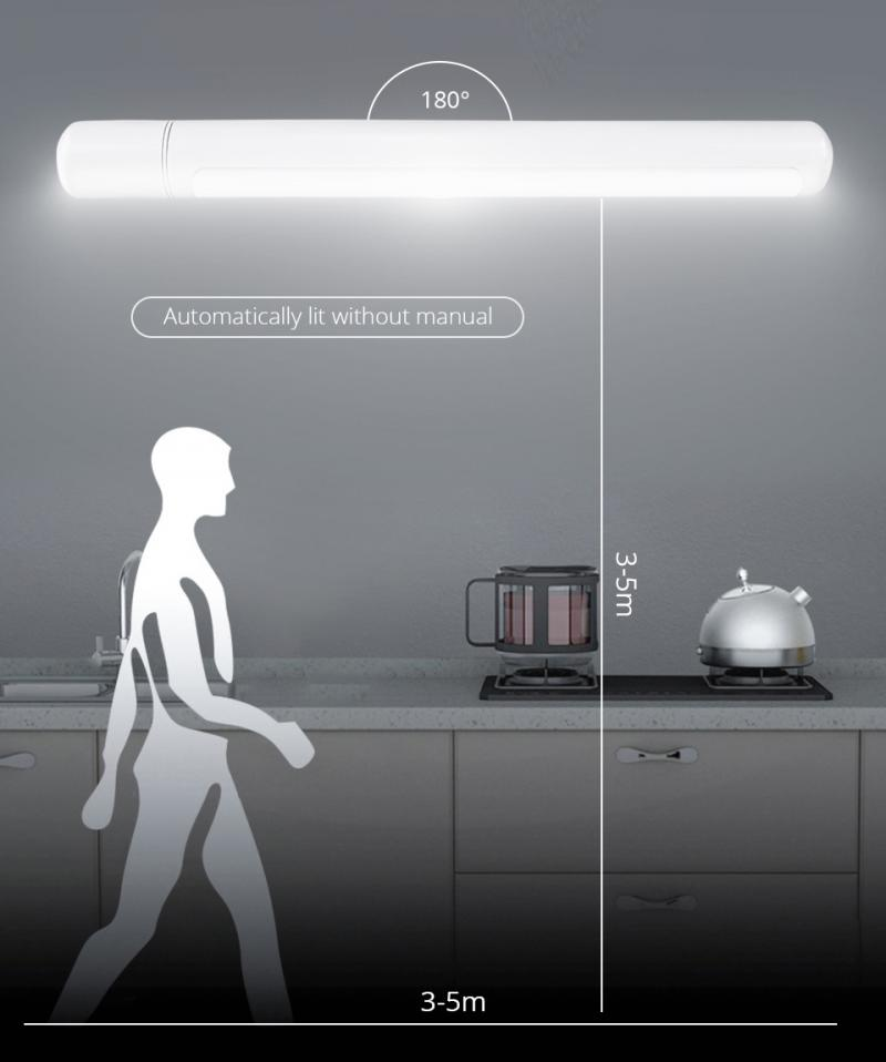 USD rechargeable LED Under Cabinet Light PIR Motion Sensor Lamp LEDs for Wardrobe Cupboard Closet Lighting 5 led Led Night Light