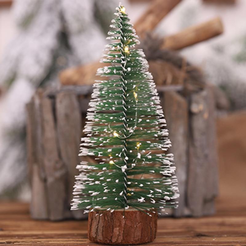 Светящиеся иглы для рождественской елки, украшения для маленькой елки, окна, стола, украшения для рождественской елки, новый год 2021, 2022