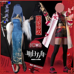 Anime! Trajes para cosplay feminino arknights, exusiai mostima rodas ilha, traje de batalha, uniforme de halloween