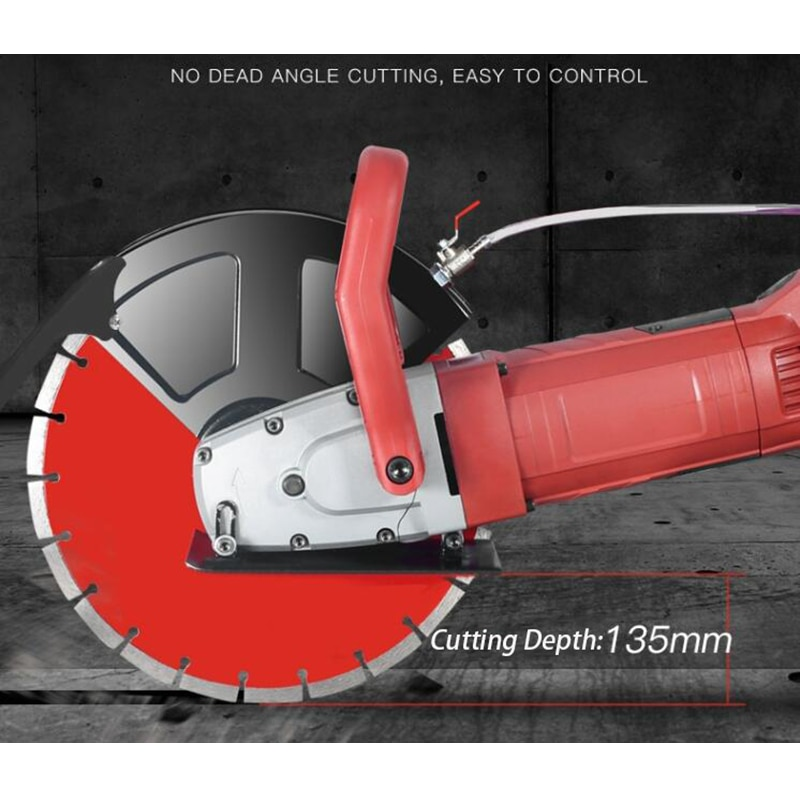 6500W Grooving (or slotting) machine 13/16CM depth Angle grinder Concrete wall Dust-free Hydroelectricity Stone cutting machine enlarge