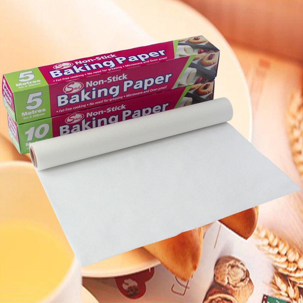 5/10M, utensilios para el horno a prueba de grasa, papel para hornear, papel para hornear, papel de pergamino rectangular, hojas para hornear, panadería, fiesta de barbacoa #25