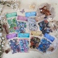 40 pieces ensemble de papeterie autocollants papillons sac de fete remplissage papillon autocollant bricolage decoration de la maison