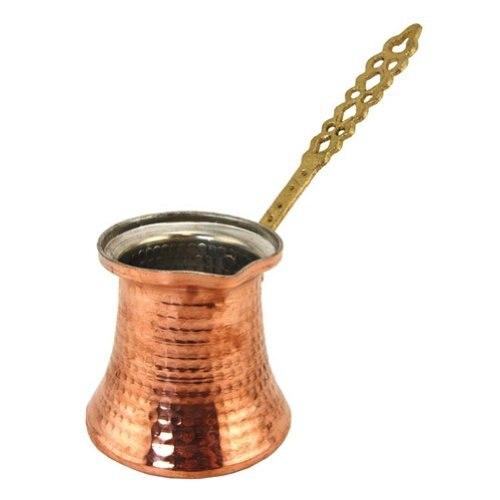 EminHome-وعاء حليب بقطر 6.5 سنتيمتر ، مصنوع يدويًا من النحاس ، ماكينة صنع القهوة التركية ، غلاية مقاومة للصدأ ، جهاز استماع لتقديم الطعام للضيوف