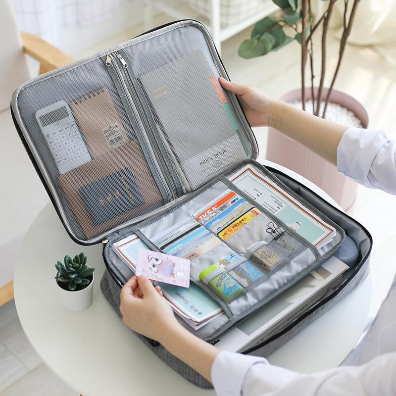 Big Capacity Men Document Bag Travel Man Waterproof Handbag Office Organizer Business Briefcase File Zipper Pouch Accessories