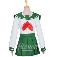 Inuyasha Higurashi Kagome Cosplay Costume Custom Made Kikyo Kimono lolita shirt skirt party dress costume