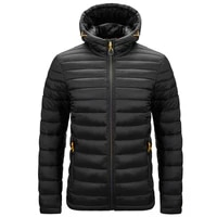 mens hooded cotton padded jacket lightweight jacket autumn and winter new large patting cotton padded jacket mens wear