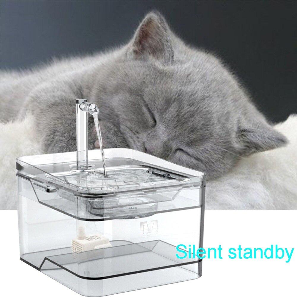Gato e cão dispensador de água 2.8l inteligente sensor de ruído zero usb modo de saída dupla 300ml energia fora de armazenamento de água pet dispensador de água
