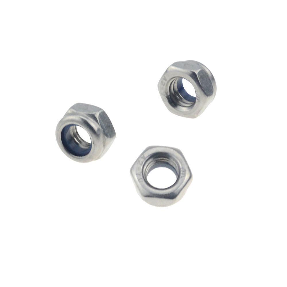 M2 m2.5 m3 m4 m5 m6 m8 m10 m12 304 de aço inoxidável encanta a porca de bloqueio de inserção de náilon