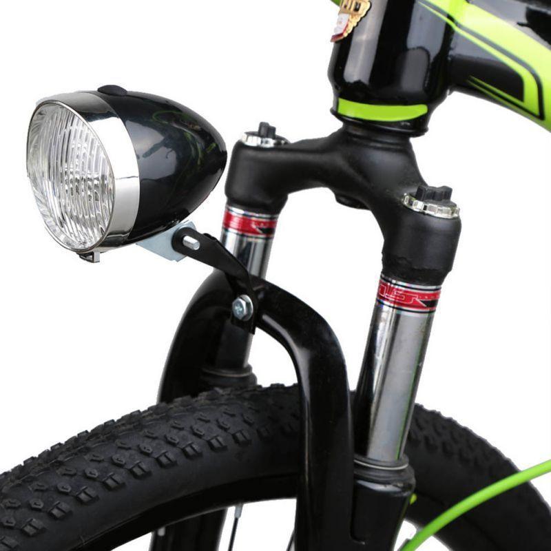 Linterna Solar Para bicicleta, faro Retro negro, 6v, Vintage, Accesorios Para bicicleta de noche