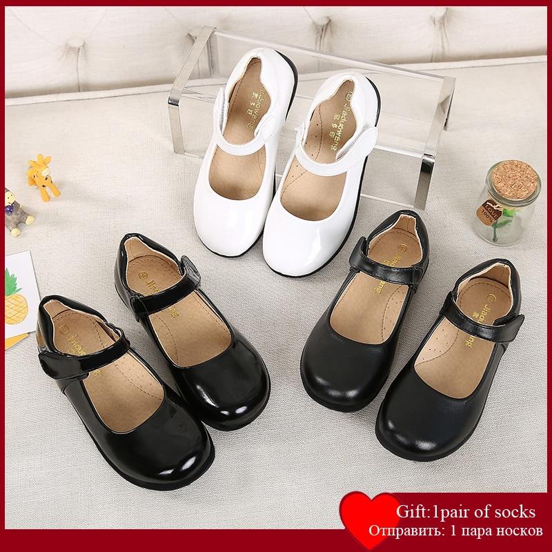 2021 Girls Leather Shoes Princess Shoes Children Shoes Dancing Shoes Princess Sweet Sandals Spring Autumn Summer PU Shoes