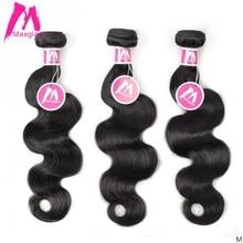 Maxglam Indian Human Hair Weave Bundels Body Wave Natuurlijke Korte Lange 8 Tot 30 Inch Extension Remy Haar Voor Zwarte vrouwen