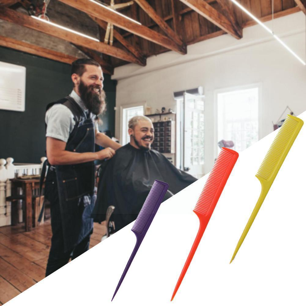 1pcs Professional Hair Tail Comb Salon Cut Comb Plastic Random Hairdressing Tools Comb Pin Styling A
