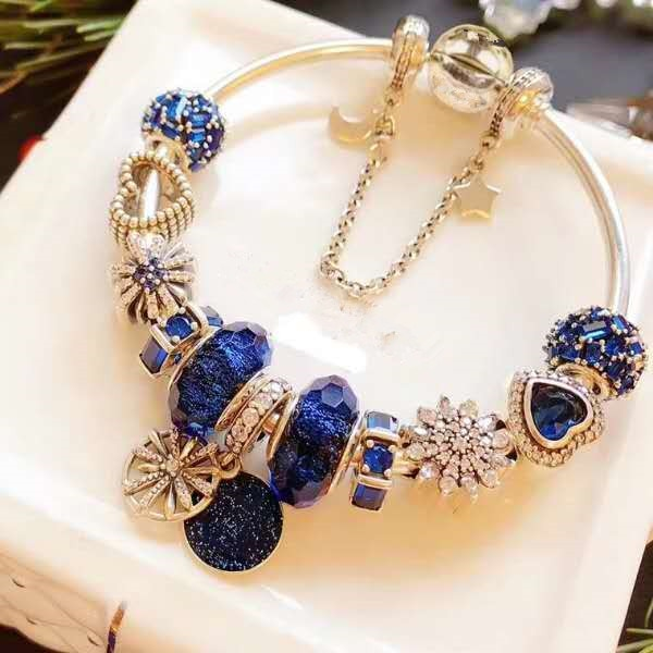 DIY بها بنفسك مجوهرات charm موضة 925 فضة الأصلي عموم سوار للنساء wishing شجرة مجوهرات هدايا.