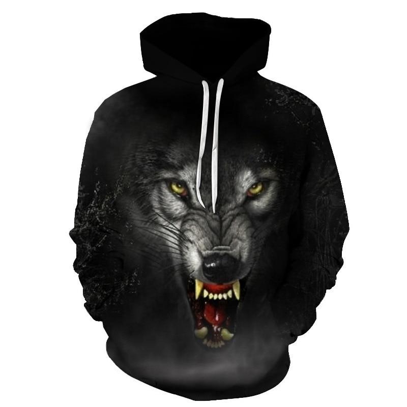 2021 Hot Seller Men Snow Wolf Animal 3D Printed Hoodie Men/Women Kids Wolf Sweatshirt 3D Harajuku Ho