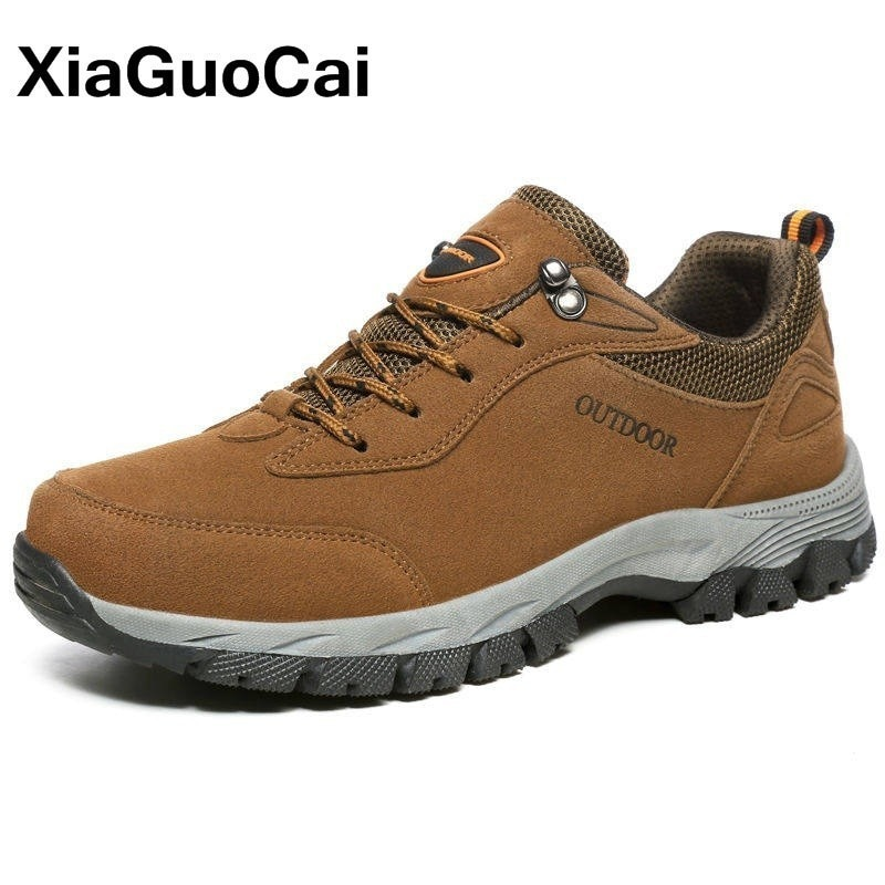 Spring Autumn Men Shoes Breathable Nubuck Leather Male Casual Shoes Outdoor Lace Up Walking Mans Footwear Big Size Fashion clax men shoes genuine leather spring autumn casual shoe male leather shoe walking footwear soft black fashion