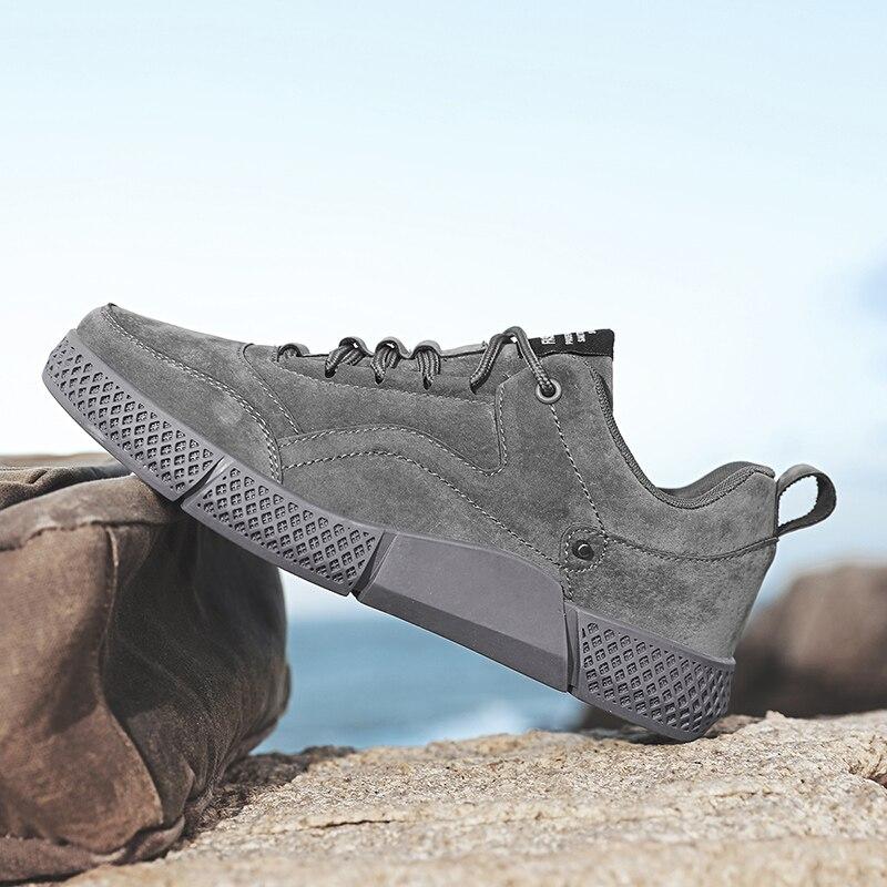 الخريف كبير بوي حذاء كاجوال كاكي رمادي الرجال الشقق أحذية موضة الأحذية للرجال أحذية رخيصة خفيفة حذاء كاجوال للذكور حجم 39-44