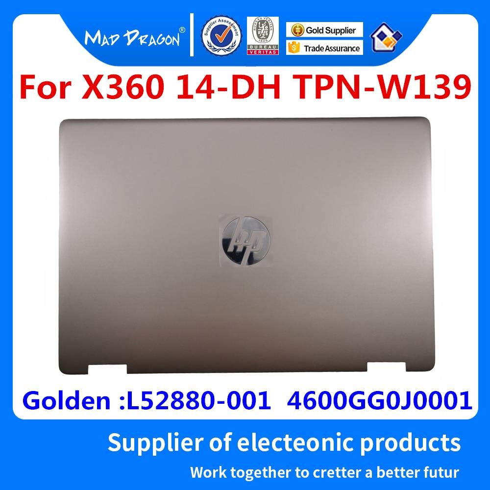Portátil nova original lcd tampa traseira voltar lcd capa superior para hp x360 14-dh 14-dh003tu TPN-W139 dourado L52880-001 4600gg0j0001