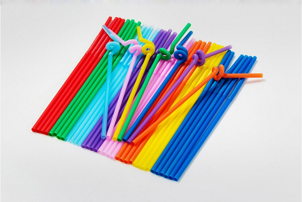 50Pcs Multi-Shaped Pegeant Plastic Drinking Straws Wedding Birthday Party Multi Color Straw Bar Accessories