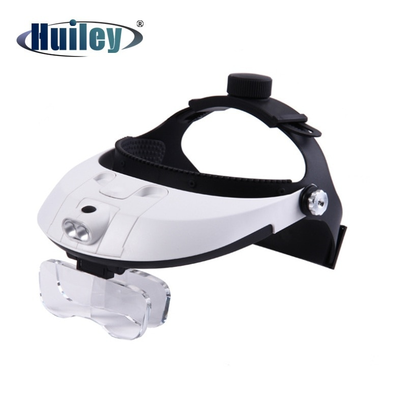 1.0X 1.5X 2.0X 2.5X 3.5X LED casco lupa ajustable auricular Dental E.N. T Lupa de aumento para diadema