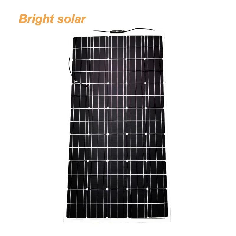 200 واط 18 فولت مرنة لوحة طاقة شمسية ل شاحنة التخييم قارب منزل سقيفة حديقة أو مزرعة
