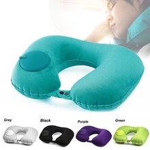 U-Shape Inflatable Travel Pillow Neck Pillow Car Head Rest Air Pillows Cushion for Travel Office Nap Head Rest Car Accesorios
