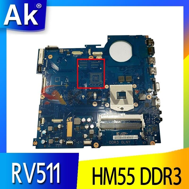 AKEMY BA41-01432A لسامسونج RV511 RV509 اللوحة المحمول BA92-07699A BA92-07699B HM55 DDR3 شحن وحدة المعالجة المركزية