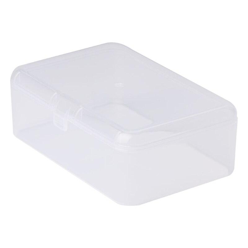 Organizador de contenedores de colección de Caja de almacenamiento transparente de plástico Rectangular