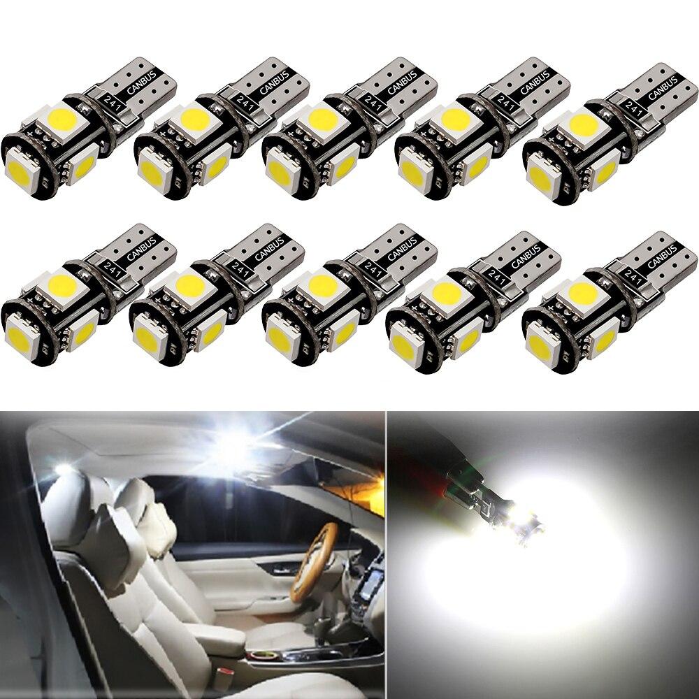 10X estilo de coche Auto LED T10 Canbus 194 W5W 5050SMD bombilla de luz No Error para Lada Vesta Granta Kalina Niva Priora Vaz Largus 4x4