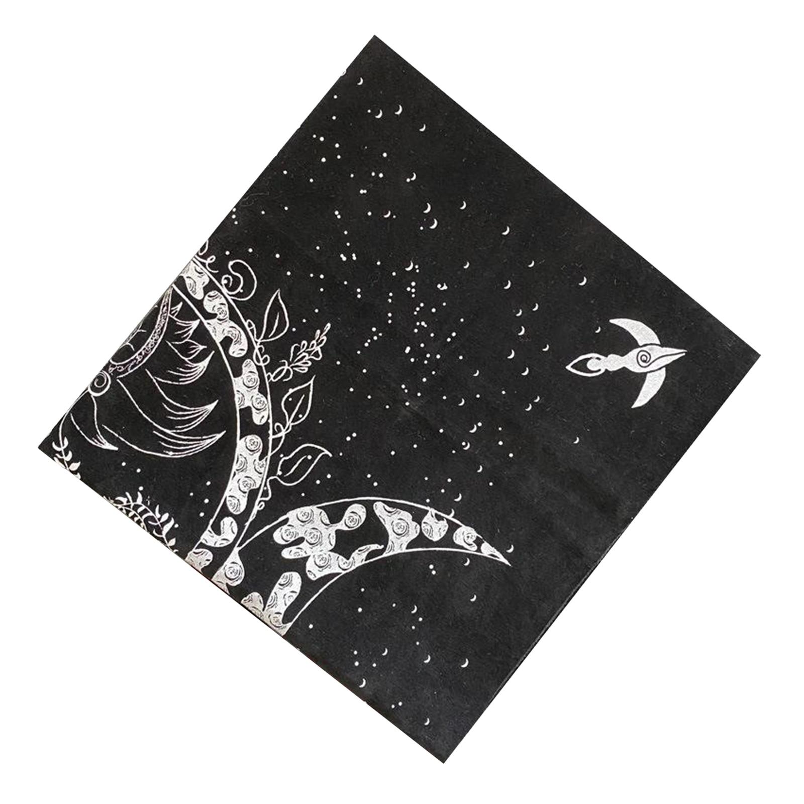 Altar Tarots Cloth Triple Goddess Moon Phases Astrology Tarots Cards Divination Special Tablecloth Velvet 19
