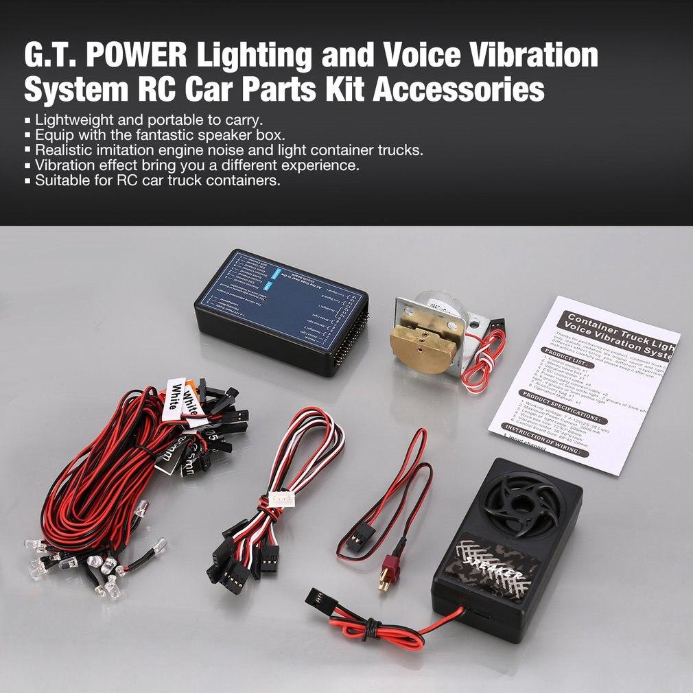¡G.T! Iluminación de energía y sistema de vibración de voz RC Kit de piezas de coche para Tamiya RC4WD Tractor RC vehículo accesorios ligeros
