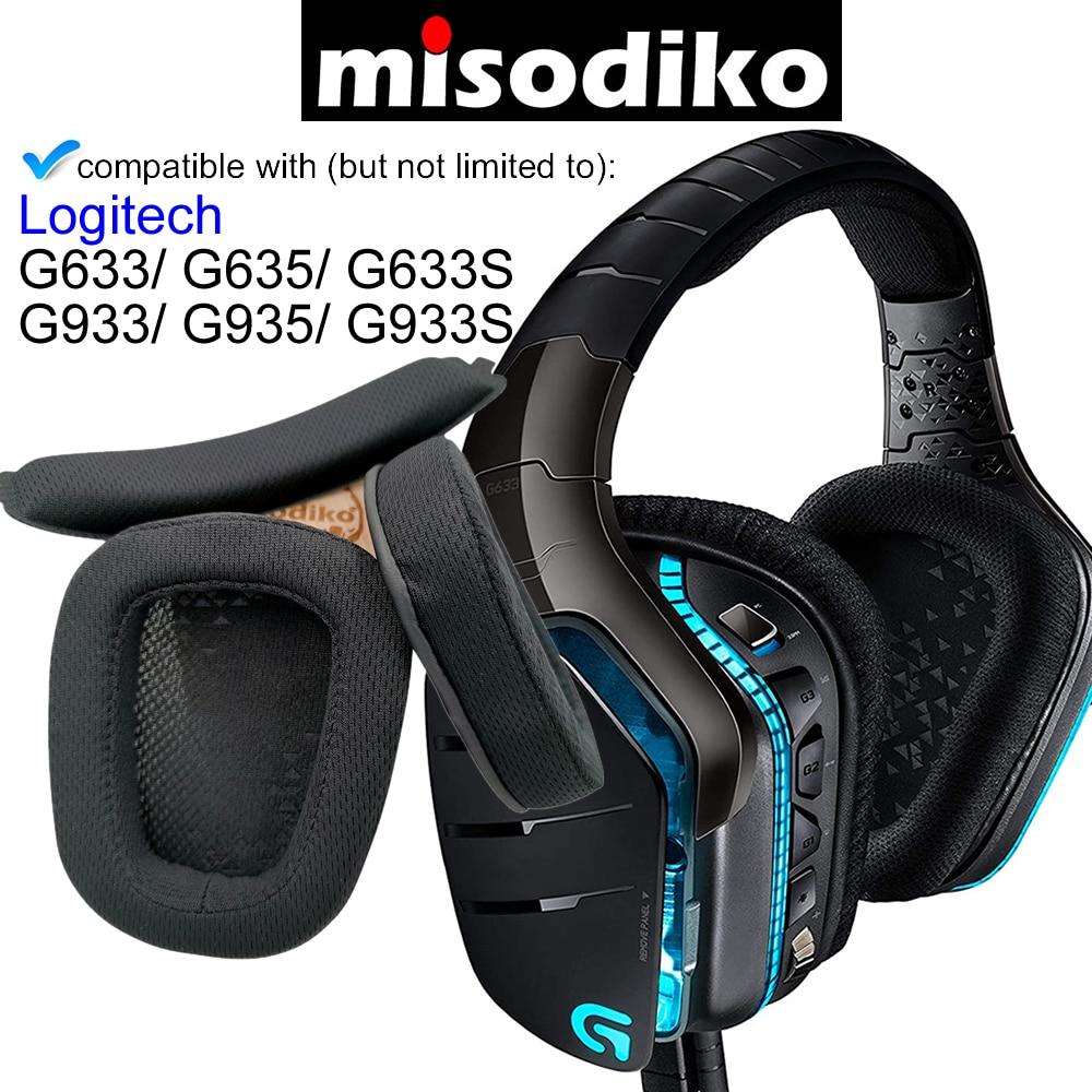 Комплект сменных амбушюров misodiko для Logitech G633, G933, G635, G935, G633S, G933S, игровые накладки для гарнитуры