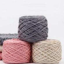 Jiwuo 200g doux soie lait coton fil épais fil à tricoter amant foulards à tricoter à la main laine Crochet fil armure fil bricolage pull