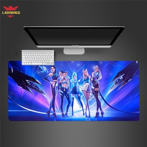 Gaming Mousepad KDA ALL OUT Computer Mousepad Anti-slip Natural Rubber Anime Mouse Pad Gamer Desk Pad Mat Table Carpet For Gamer
