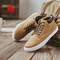 DECARSDZ Men Boots Autumn & Winter Basic Boots Comfy Flat Lace-up Men Casual Boots Men Fashion man Shoes PU Leather Men's Boots
