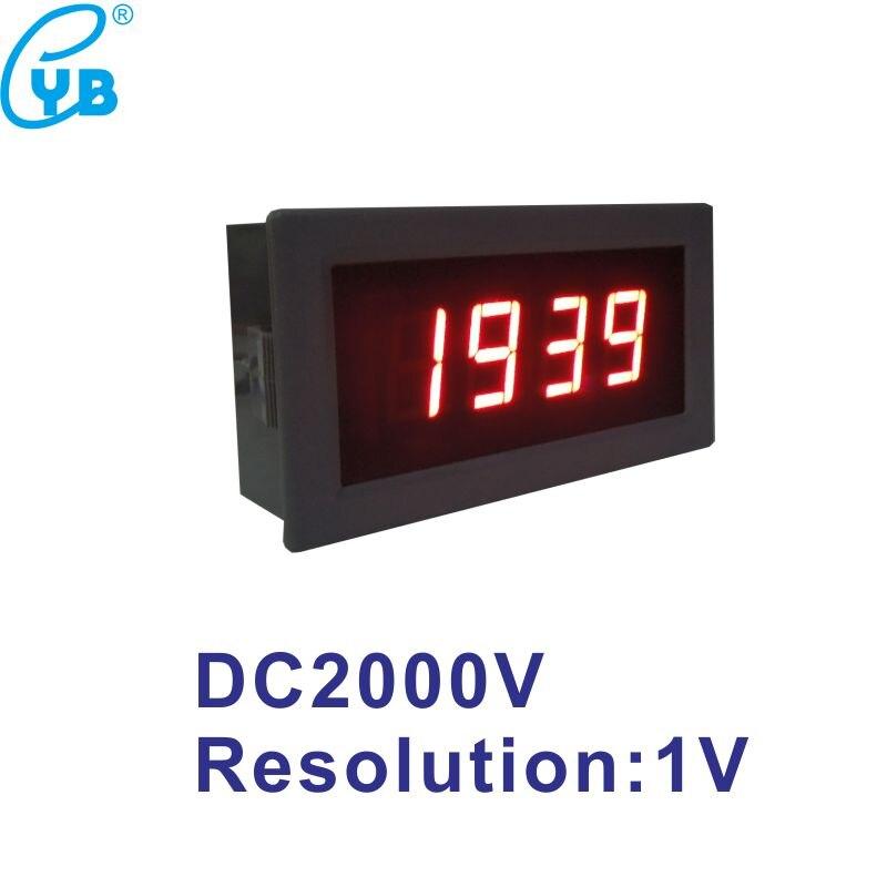 LED Digital Voltage Panel Meter DC 2000V Power Supply DC 24V DC Voltmeter Resolution 1V Voltage Tester Volt Gauge Volt Monitor