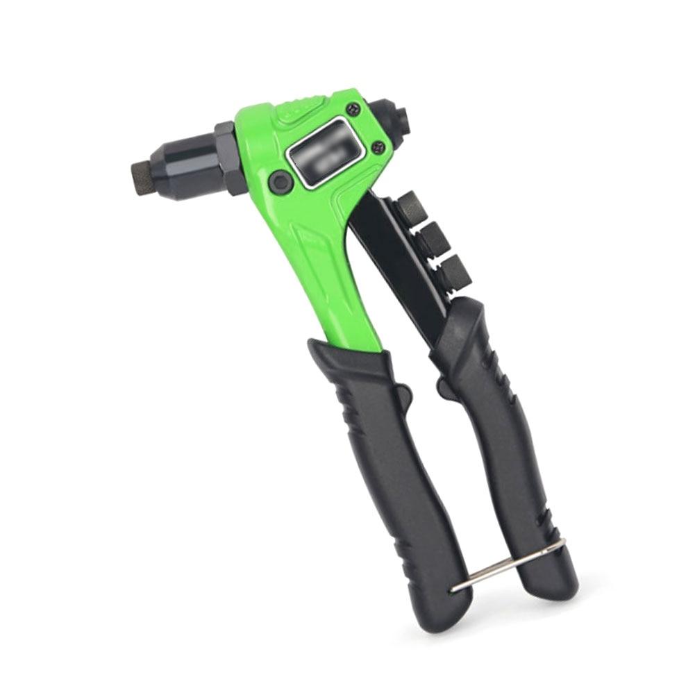 Manual Riveter Guns Set Heavy-Duty Manual Rivet Gun Automatic Rivet Tool With 4 Adapters 50 Rivet Nuts One-Hand Rivet Tool