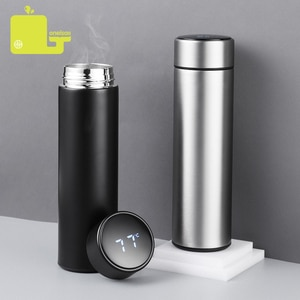 450ML Thermos Vacuum Flasks Temperature Display 304Stainless Steel My Hot Water Bottle Travel Coffee Mug Tea Milk Mug Thermo cup