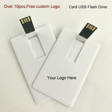 (Plus de 10 pièces logo gratuit) 100% capacité 4GB 8GB 16GB 32Gb carte de crédit clé USB clé USB logo personnalisé de haute qualité clé USB créative