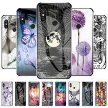 Luxury Glass Case For Xiaomi Mi 8 Cases Soft Silicon Funda On Xiaomi Mi 8 Lite 8X M1808D2TG Mi 8 SE