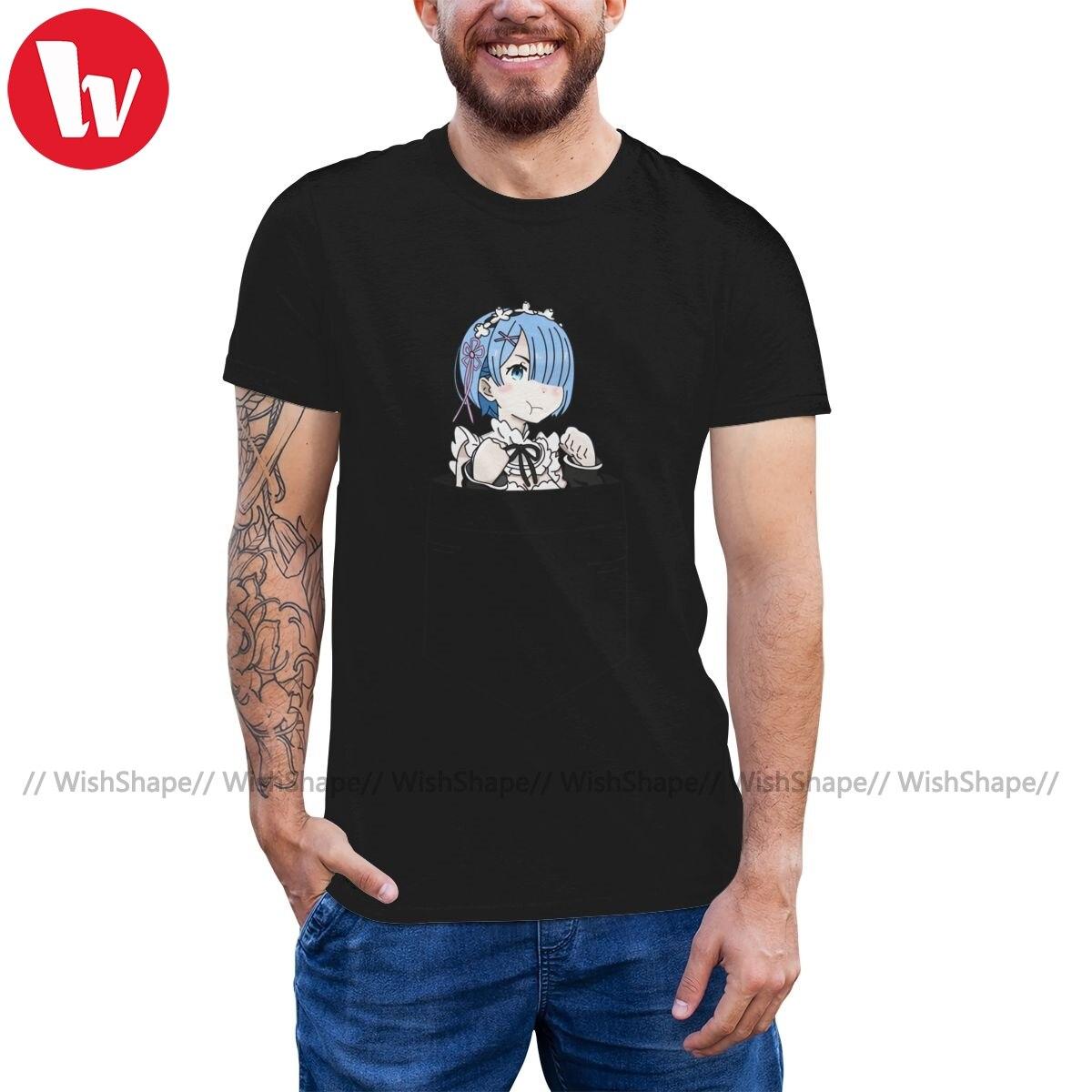 A cero T camisa Mini bolsillo camiseta Rem 100 algodón de verano de camiseta hombres lindo XXX de manga corta Camiseta