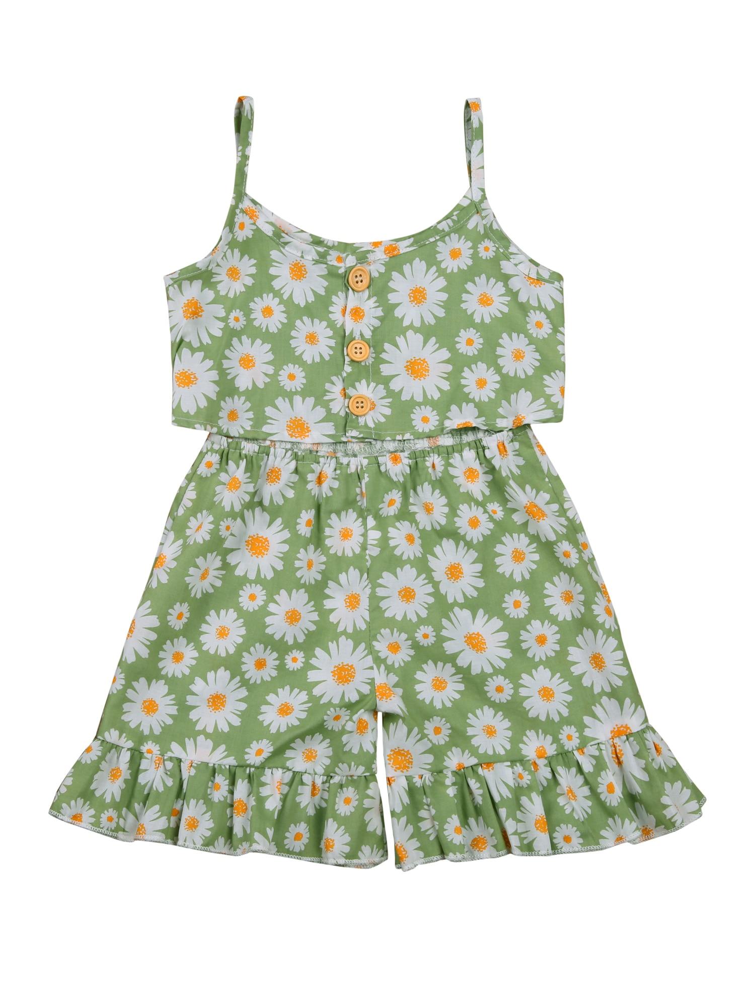 Conjuntos de ropa con estampado Floral para bebés y camiseta de manga...